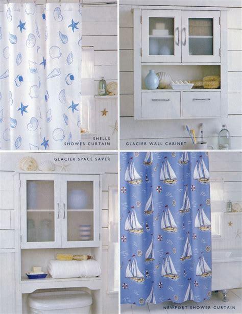 Nautical themed bathroom accessories, including Newport