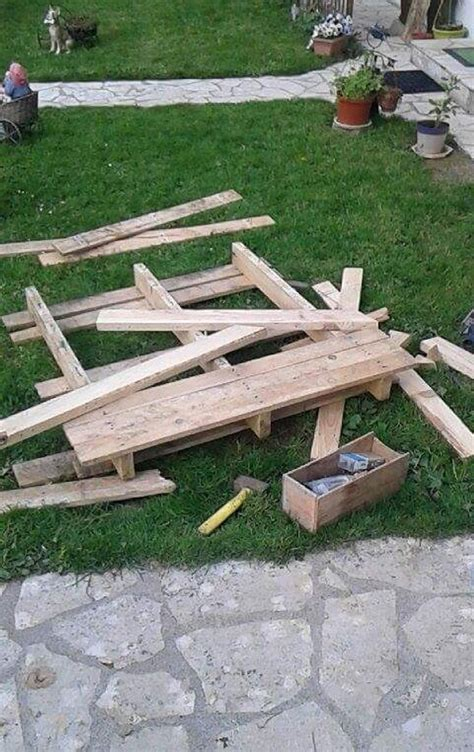 garden bench made from pallets diy cute pallets made garden bench pallet ideas