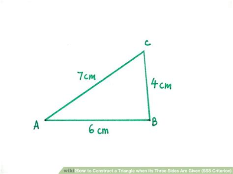 construct a triangle how to construct a triangle when its three sides are given