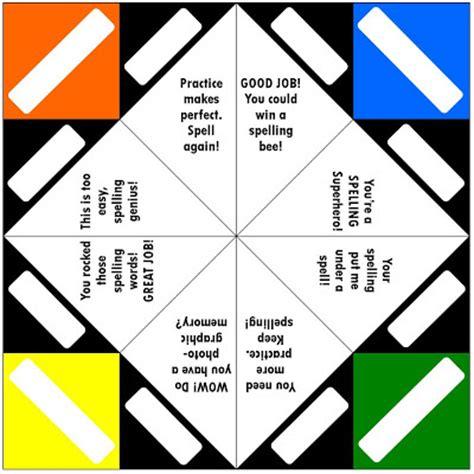 Fortune Teller Paper Folding Template - relentlessly deceptively educational fortune teller