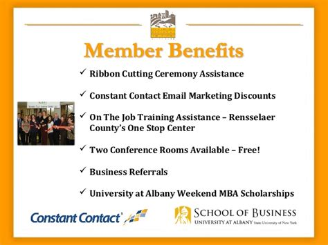 Suny Albany Mba Cost by Rensselaer County Regional Chamber Of Commerce Member Benefits