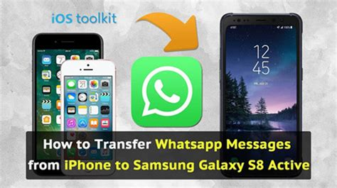 transfer whatsapp messages from iphone to android 2 ways transfer whatsapp messages from iphone to samsung s8 s8
