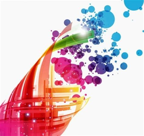wallpaper abstrak bola warna warni desain abstrak latar belakang vektor seni