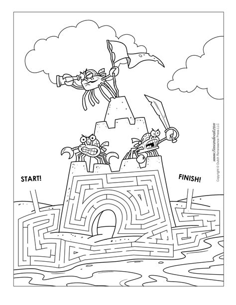 printable beach maze sand castle maze tim s printables