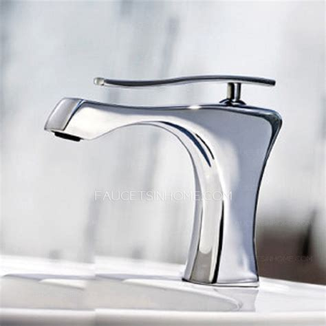modern chrome finish ceramic spool bathroom sink faucets