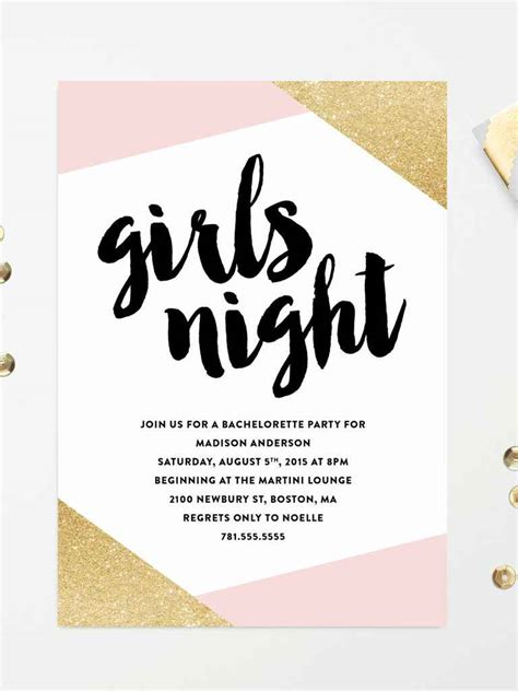 14 Printable Bachelorette Party Invitation Templates And Invite Template