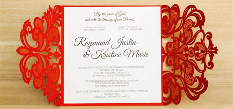 Wedding Invitations Philippines by Laser Cut Wedding Invitations Philippines By With