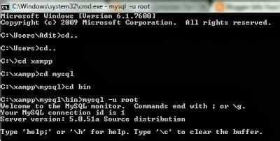 membuat game dengan cmd cara membuat database mysql dengan cmd