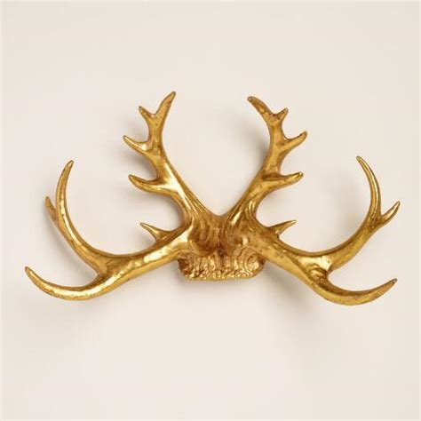 Wall Antlers Decor by Gold Antler Wall Decor World Market