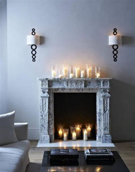 fireplace display fireplace candle displays to make your home cozier