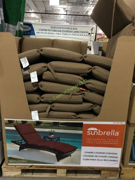 sunbrella chaise lounge cushions costco replacement chaise cushion costcochaser