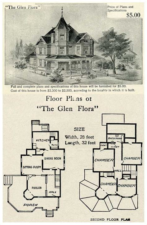 victorian homes floor plans 1905 hodgson house plan quot the glen flora quot vintage home plans pinterest queen anne flora