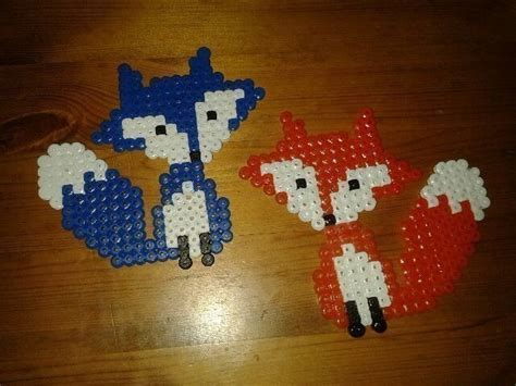 how to make beaded animals hama bead foxes 183 a beaded animal 183 on cut out keep