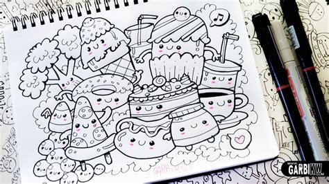 doodle 4 drawings kawaii food how to draw kawaii doodles by garbi kw