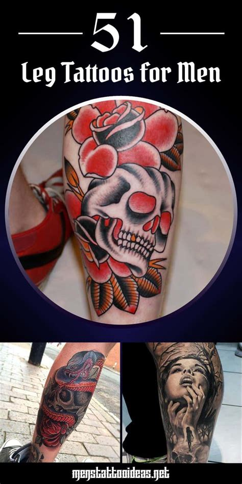 tattoo ideas for young men leg tattoos for ideas and designs for guys