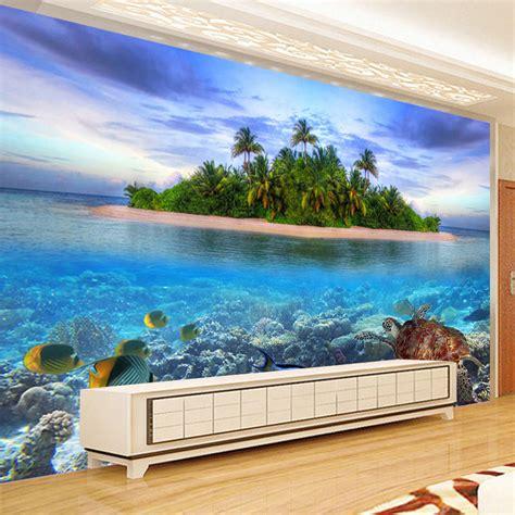 kustom foto wallpaper living room bedroom latar belakang wall decor kustom 3d foto mural wallpaper pemandangan pantai non