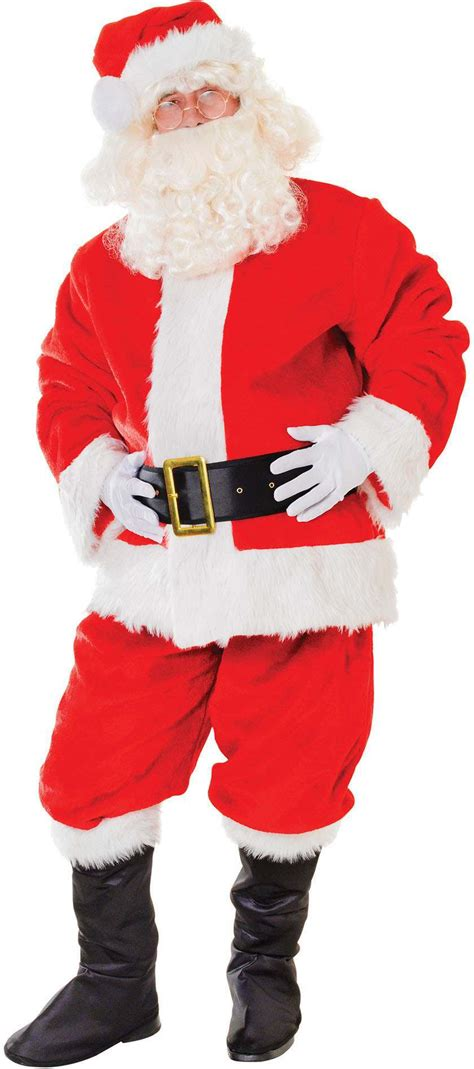 buy santa suit plush deluxe largest online fancy dress