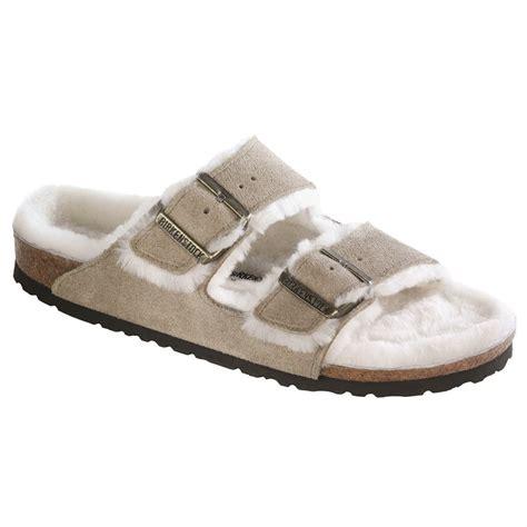 shearling slippers womens birkenstock arizona shearling lined slippers s evo