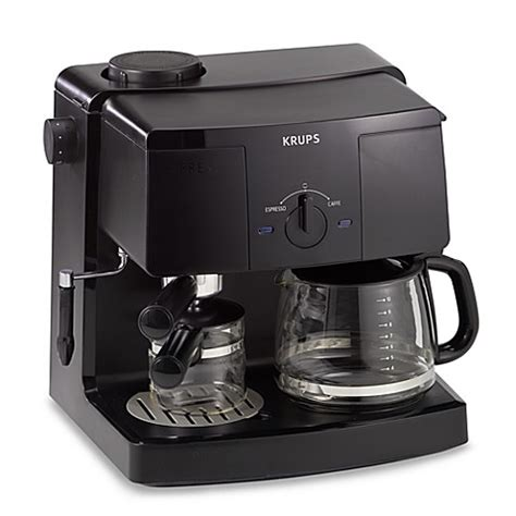 krups coffee maker krups model xp1500 espresso machine and coffee maker bed bath beyond