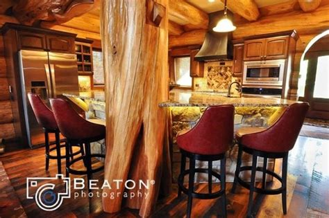 Moose ridge cabin western red cedar log home in breckenridge traditional kitchen denver