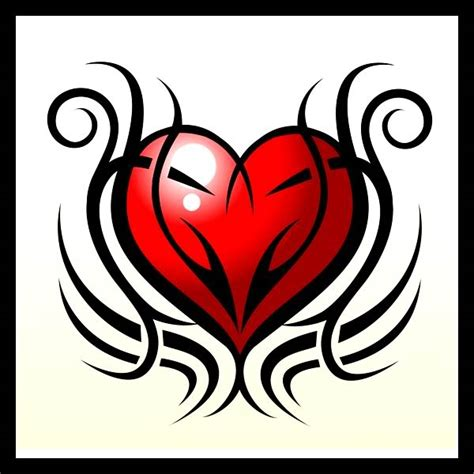 tribal pattern heart tribal heart tattoos tattoo collections