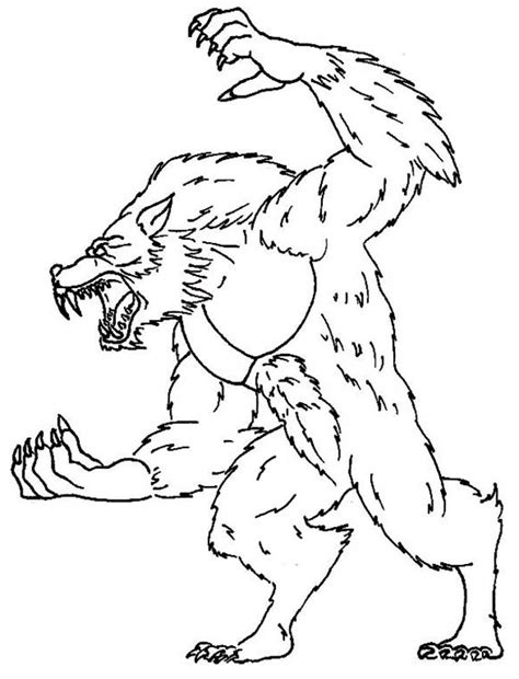 werewolf coloring pictures coloring home