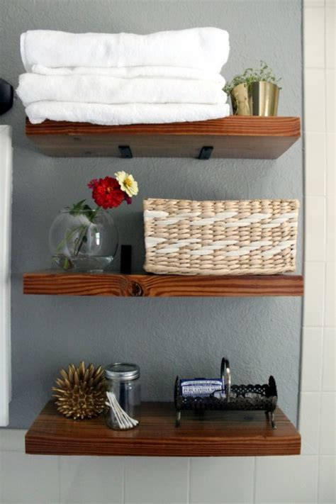 Bathroom Shelving 17 Diy Space Saving Bathroom Shelves And Storage Ideas Shelterness