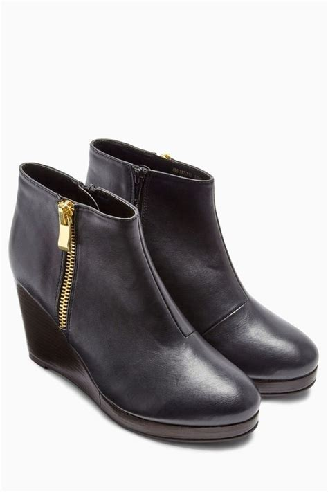 next black wedge ankle boots shopstyle co uk