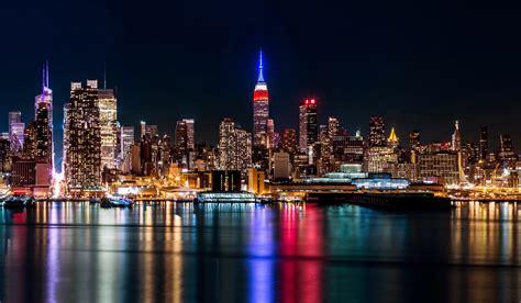 manhattan night in new york city 4k wallpapers wallpapers manhattan new york city usa brooklyn sea night