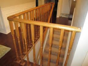 oak banisters remodelaholic updating an oak stair or handrail to white