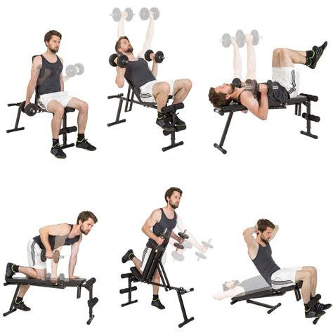 exercice sur banc de musculation tectake banc de musculation universel banc 224 halt 232 res