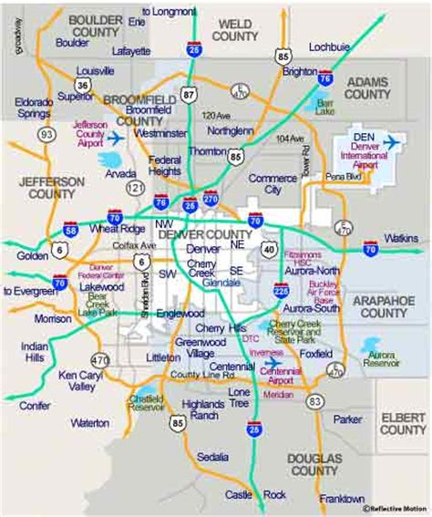 map of denver area denver map outravelling maps guide