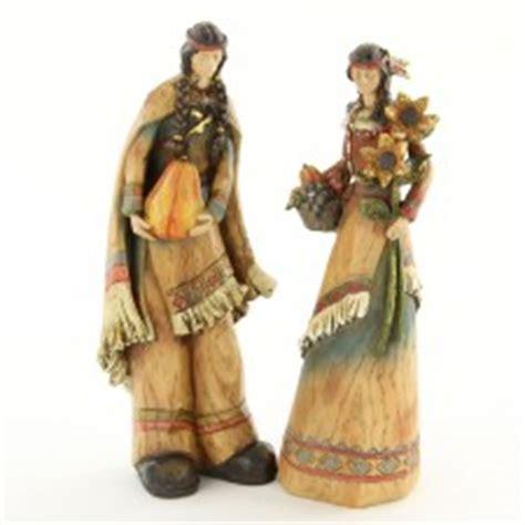resin pilgrim and indians resin harvest figurine indians pilgrims turkeys