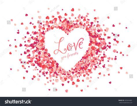 shave ypu in shape of heart vector pink hearts confetti heart shape stock vector