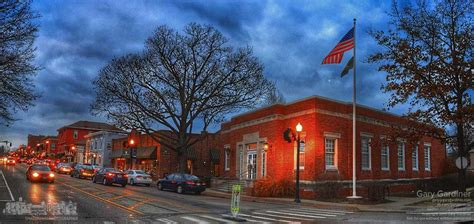 Post Office Westerville by Early Evening Uptown Photo