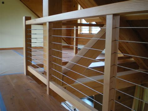 Wood Stair Banisters Douglas Cable Stair Railing Railing Stairs And Kitchen