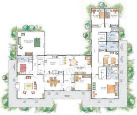 U Shaped Floor Plan U Shaped House With Courtyard House Plans U Shaped With
