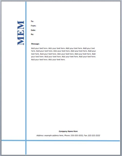 Memo Document Template Word Memo Template Microsoft Word Templates