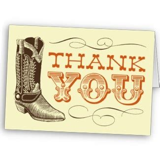 western thank you card template country and western themed thank you card cards thanks