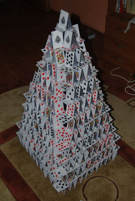 how to make a card house 98 best images about card castles and cards on