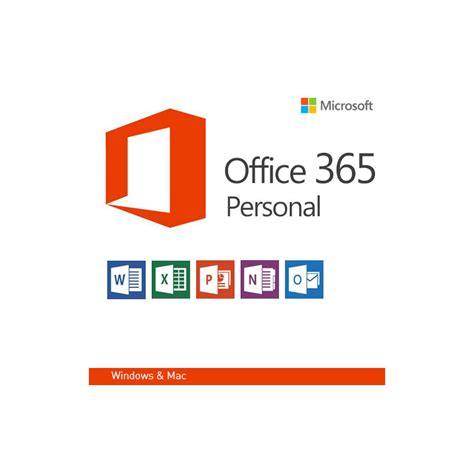 Microsoft Office Personal by Microsoft Office 365 Personal Annual License 1 Position