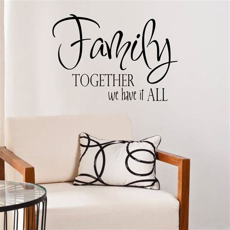 family quote wall stickers family quote vinyl wall sticker by mirrorin