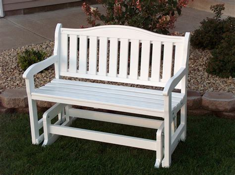 outdoor glider bench white garden bench glider white epic greenhouses