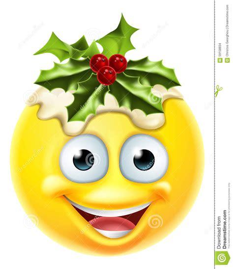 christmas emoticons pudding emoticon emoji stock vector illustration of figgy 59158834