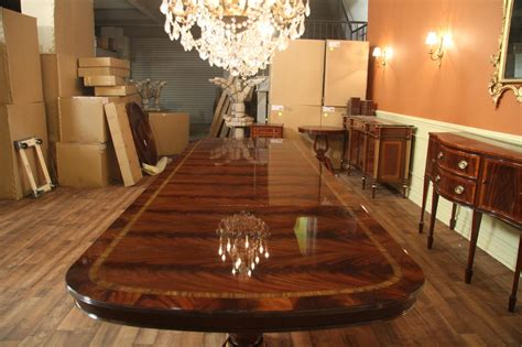 large and wide mahogany dining room table