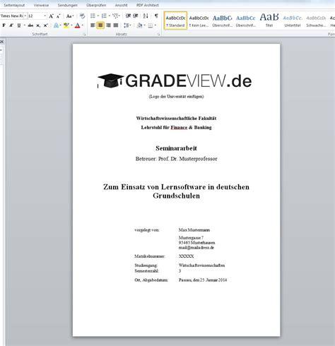 seminararbeit layout word ein deckblatt anschreiben 2018