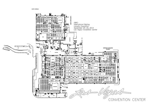 las vegas convention center floor plan ibie 08 11 october 2016 international baking industry