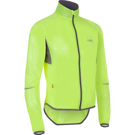 clear cycling jacket wiggle dhb clear fluro race jacket cycling waterproof