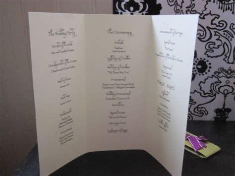 Trifold Diy Ceremony Programs Weddingbee Photo Gallery Diy Brochure Template