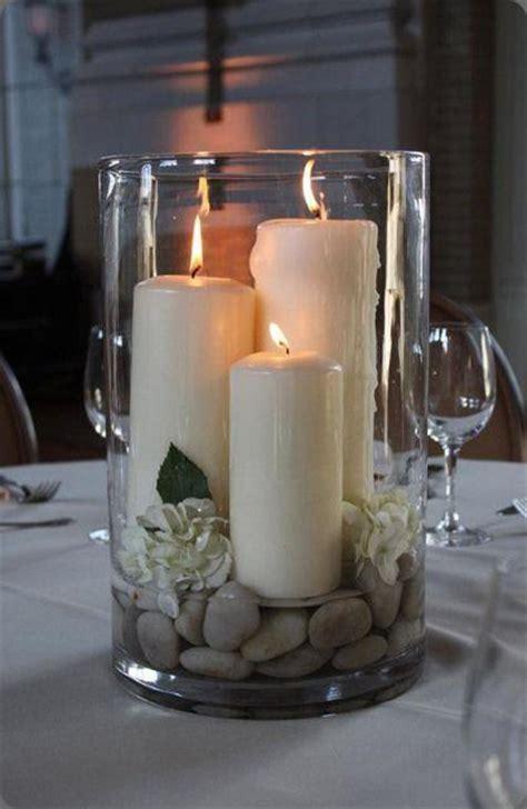 large candle centerpieces diy 10 pomys蛯 243 w na stylowe ozdoby do domu wykonane
